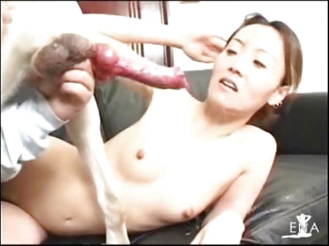 Uncensored Japanese girls with Dogs - asian anal dog fuck
